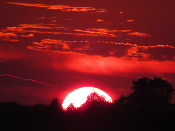 Sunset on the last day of July.<br /> <br /> Photographer's Name: Harry Van Noy<br /> Photographer's City and State: Lafayette Township, Ind.