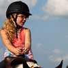 A youngster learning to ride a horse at my farm in Richland Township.<br /> <br /> Photographer's Name: J.R. Rosencrans<br /> Photographer's City and State: Alexandria, Ind.