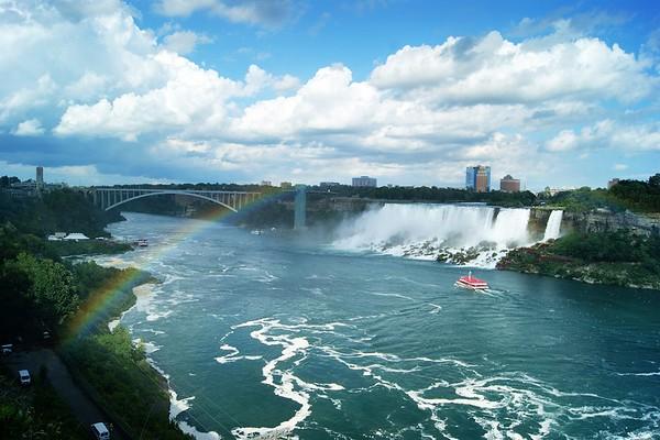 A rainbow over Niagara Falls, Ontario Canada.<br /> <br /> Photographer's Name: Morgan Elbert<br /> Photographer's City and State: Alexandria, Ind.