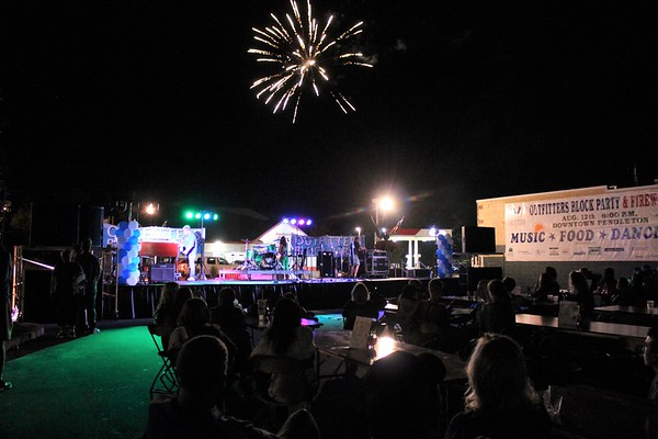 Block party and fireworks in Pendletin.<br /> <br /> Photographer's Name: Rebecca Reding<br /> Photographer's City and State: Anderson, Ind.