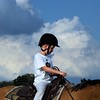 A youngster learning how to ride at horse camp in Richland Township.<br /> <br /> Photographer's Name: J.R. Rosencrans<br /> Photographer's City and State: Alexandria, Ind.