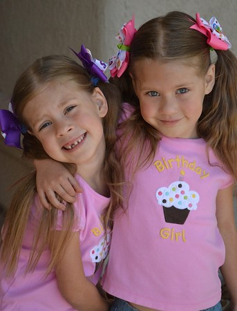 My twin nieces Abby and Hanna, age 9, are award-winning songwriters and poets.<br /> <br /> Photographer's Name: Nicole Winkler<br /> Photographer's City and State: Anderson, Ind.