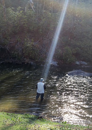 My brother Joe Justice fishing in his heavenly fishing spot.<br /> <br /> Photographer's Name: Sue Keglovits<br /> Photographer's City and State: Markleville, Ind.