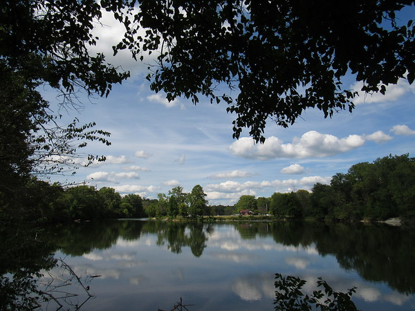 A view of Shadyside Lake on a warm August day.<br /> <br /> Photographer's Name: Harry Van Noy<br /> Photographer's City and State: Lafayette Township, Ind.