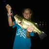 Katie Gray with a 4.5 pounder, caught at Geist Reservoir.<br /> <br /> Photographer's Name: J.R. Rosencrans<br /> Photographer's City and State: Alexandria, Ind.