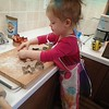 Cindy Lou who makes gingerbread cookies.<br /> <br /> Photographer's Name: Lyn Gettinger<br /> Photographer's City and State: Anderson, Ind.