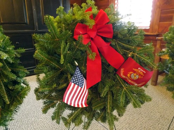 Wreaths across America program at Loose Funeral home. I was in charge of the Marine Wreath.<br /> <br /> Photographer's Name: J.R. Rosencrans<br /> Photographer's City and State: Alexandria, Ind.