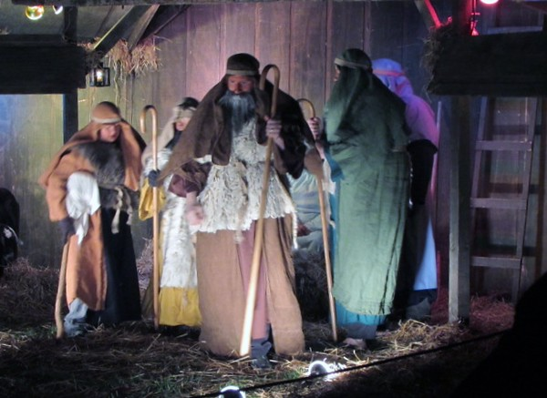Maple Grove Church of God nativity scene.<br /> <br /> Photographer's Name: Bill Griffin<br /> Photographer's City and State: Anderson, Ind.
