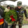Cadet Airmen Hallett and Martin (Civil Air Patrol Anderson Composite Squadron GLR 223) unload wreaths to lay on veterans' graves.<br /> <br /> Photographer's Name: Dee  Martin<br /> Photographer's City and State: Muncie, Ind.
