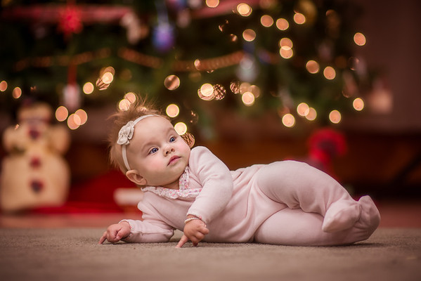 My granddaughter Nilsa Fox posing in front of the tree.<br /> <br /> Photographer's Name: Terry Lynn Ayers<br /> Photographer's City and State: Anderson, Ind.