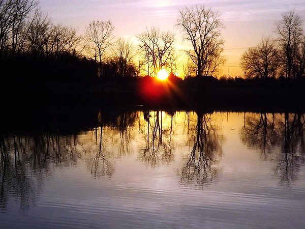 Sunrise at Shadyside Lake.<br /> <br /> Photographer's Name: J.R. Rosencrans<br /> Photographer's City and State: Alexandria, Ind.