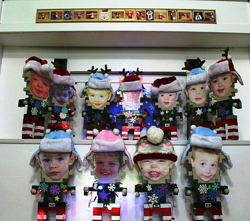 Mini-elfs of the children from my wife's childcare that I created.<br /> <br /> Photographer's Name: Brian Fox<br /> Photographer's City and State: Anderson, Ind.