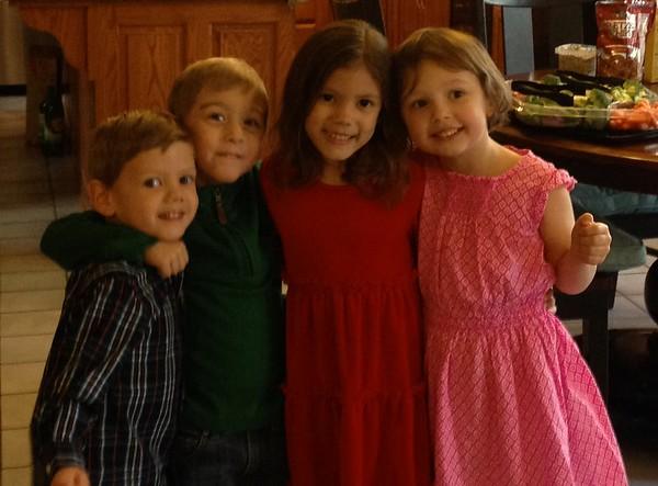 Thanksgiving dinner with grandchildren Jackson, Brayden, Gigi, and Mady.<br /> <br /> Photographer's Name: Karen Ambler<br /> Photographer's City and State: Anderson, Ind.