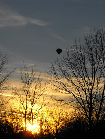 """December """"Hot Air"""" in Richland Township.<br /> <br /> Photographer's Name: J.R. Rosencrans<br /> Photographer's City and State: Alexandria, Ind."""
