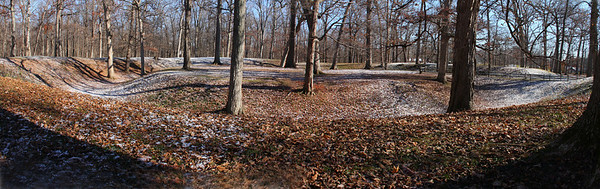 A wide view of the Great Mound at Mounds Park after the first snow of this season.<br /> <br /> Photographer's Name: Jerry Byard<br /> Photographer's City and State: Anderson, Ind.