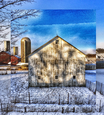 Winter barn in Delaware County.<br /> <br /> Photographer's Name: Linda  Ellis<br /> Photographer's City and State: Daleville, Ind.