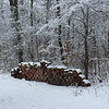 Wood pile covered with our first snow near Perkinsville, Ind.<br /> <br /> Photographer's Name: Janet Neese-Hoffman<br /> Photographer's City and State: Frankton, Ind.