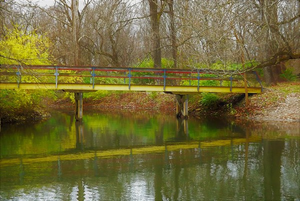 The Yellow Brick Bridge...North Anderson, Shadyside Park.<br /> <br /> Photographer's Name: J.R. Rosencrans<br /> Photographer's City and State: Alexandria, Ind.