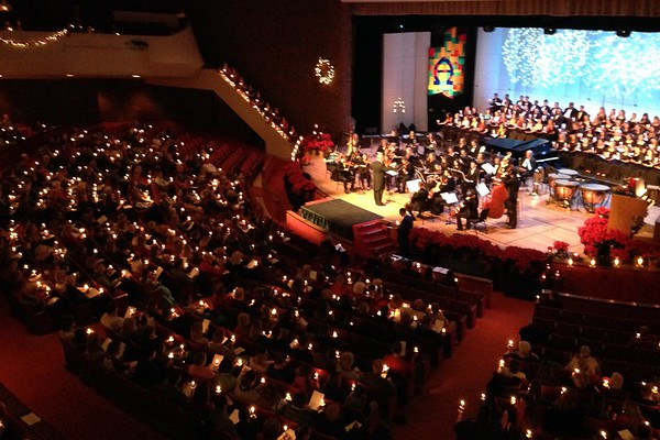 """The 52nd annual """"Candles and Carols"""" performance by the Anderson University Symphony and Chorus.<br /> <br /> Photographer's Name: David Sumner<br /> Photographer's City and State: Anderson, Ind."""