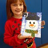 This is Kendall Long, age 7, at Christmas Cookies and Canvas, at the Alexandria Elementary School.<br /> <br /> Photographer's Name: Carrie  Long<br /> Photographer's City and State: Alexandria, Ind.