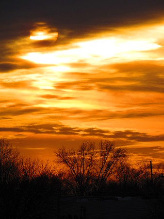 A Wednesday sunset, seen from Gen. Pulaski Park.<br /> <br /> Photographer's Name: Harry Van Noy<br /> Photographer's City and State: Lafayette Township, Ind.