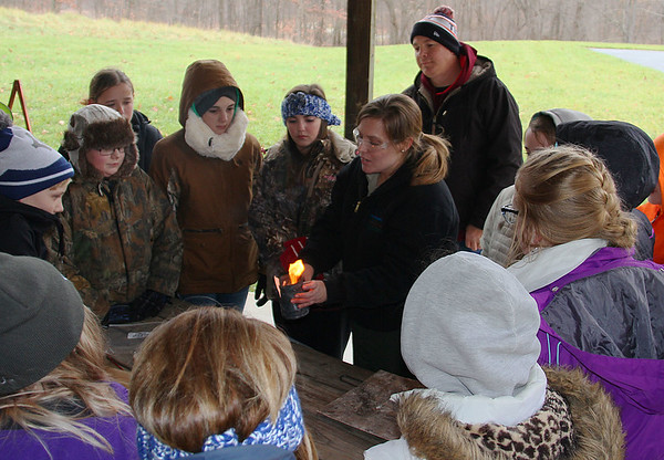 Marie at Pokagon State Park is showing early fire starting.<br /> <br /> Photographer's Name: Jerry Byard<br /> Photographer's City and State: Anderson, Ind.