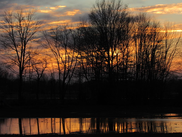 A late autumn reflective sunset.  <br /> <br /> Photographer's Name: Harry Van Noy<br /> Photographer's City and State: Lafayette Township, Ind.
