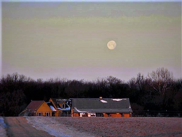 December moon in Richland Township.<br /> <br /> Photographer's Name: J.R. Rosencrans<br /> Photographer's City and State: Alexandria, Ind.