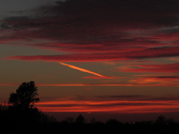 A November, Monday evening sunset over Anderson.<br /> <br /> Photographer's Name: Harry Van Noy<br /> Photographer's City and State: Lafayette Township, Ind.