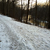 Snowy Trail 5 above White River at Mounds Park at sunset.<br /> <br /> Photographer's Name: Jerry Byard<br /> Photographer's City and State: Anderson, Ind.