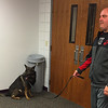 Officer Dulworth and Rico demonstrating to a local Crime Watch group.<br /> <br /> Photographer's Name: Jerry Byard<br /> Photographer's City and State: Anderson, Ind.