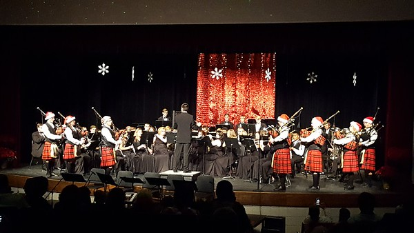 Anderson High School Band Christmas Concert.<br /> <br /> Photographer's Name:  H.A. Pease<br /> Photographers City and Country: Anderson, Ind.