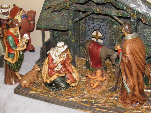Our Nativity scene.<br /> <br /> Photographer's Name: Harry Van Noy<br /> Photographer's City and State: Lafayette Township, Ind.