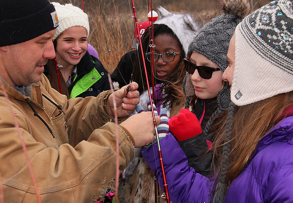 An activity at Pokagon State Park with a school group included fishing.<br /> <br /> Photographer's Name: Jerry Byard<br /> Photographer's City and State: Anderson, Ind.