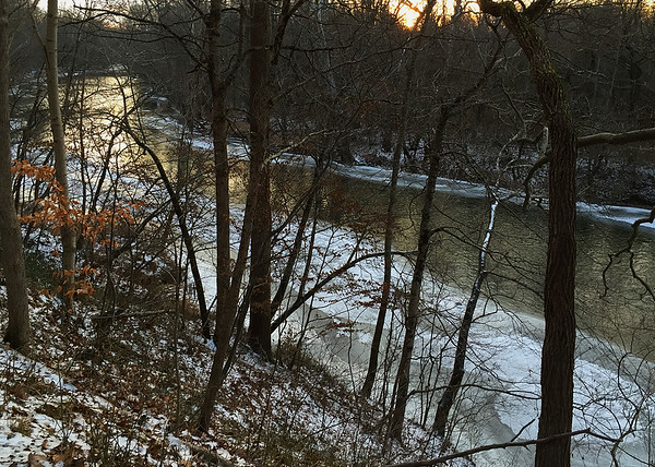 A scene above White River at sunset.<br /> <br /> Photographer's Name: Jerry Byard<br /> Photographer's City and State: Anderson, Ind.