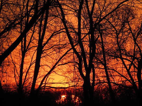 A late autumn sunset over Madison County.<br /> <br /> Photographer's Name: Harry Van Noy<br /> Photographer's City and State: Lafayette Township, Ind.