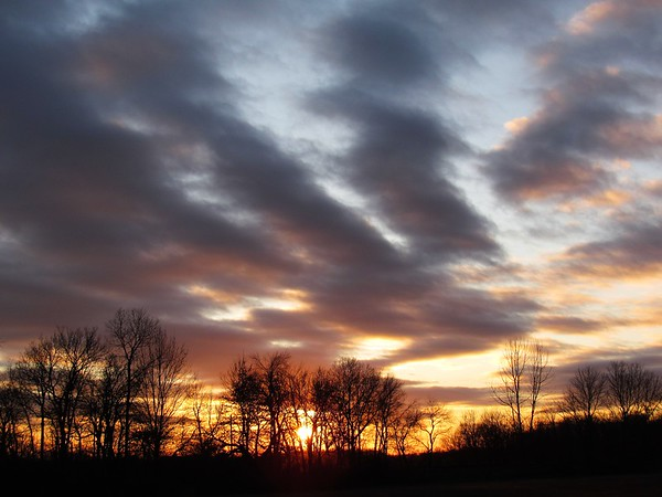 Clouds on a cold, late autumn evening in Madison County.<br /> <br /> Photographer's Name: Harry Van Noy<br /> Photographer's City and State: Lafayette Township, Ind.