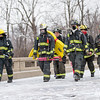 Taken during the Annual Yorktown Fire Department Fire & Ice 5K on Dec 9. Photo of Daleville and Yorktown firemen walking in full turnout gear. <br /> <br /> Photographer's Name: Ruby Northcutt<br /> Photographer's City and State: Anderson, Ind.