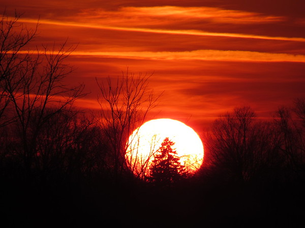 Early December sunset, seen from Madison County.<br /> <br /> Photographer's Name: Harry Van Noy<br /> Photographer's City and State: Lafayette Township, Ind.