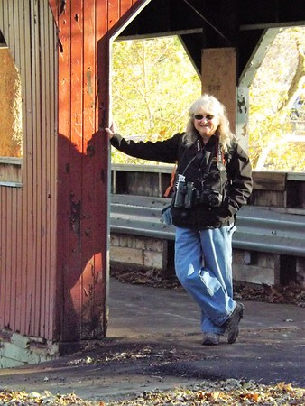 Becky Rosencrans from Washington State to visit Shadyside Lake.<br /> <br /> Photographer's Name: J.R. Rosencrans<br /> Photographer's City and State: Alexandria, Ind.