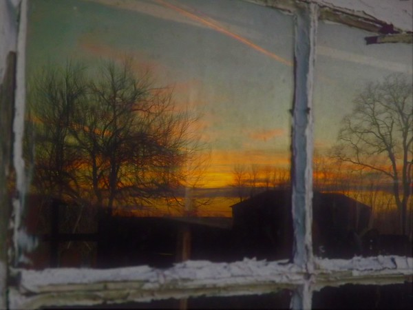 Looking at the first day of winter from the hen house window.<br /> <br /> Photographer's Name: J.R. Rosencrans<br /> Photographer's City and State: Alexandria, Ind.
