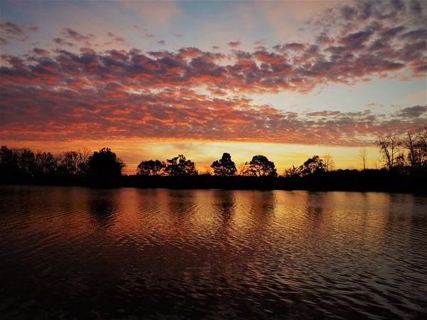 December sunrise at Morse Reservoir.<br /> <br /> Photographer's Name: J.R. Rosencrans<br /> Photographer's City and State: Alexandria, Ind.