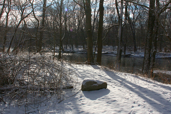 It was a pretty and sunny morning for a hike along the River at Mounds State Park.<br /> <br /> Photographer's Name: Jerry Byard<br /> Photographer's City and State: Anderson, Ind.
