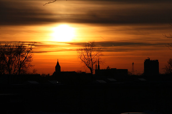 Wednesday evening had a lovely sunset over Anderson.<br /> <br /> Photographer's Name: Jerry Byard<br /> Photographer's City and State: Anderson, Ind.