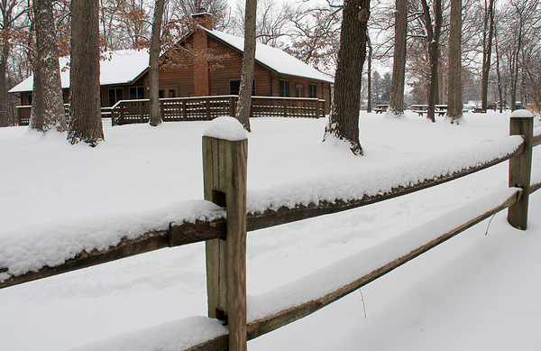 The pavilion at Mounds State Park was enhanced by a fresh snow recently.<br /> <br /> Photographer's Name: Jerry Byard<br /> Photographer's City and State: Anderson, Ind.