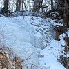 An icy waterfall was on Trail 5 at Mounds State Park on this zero morning.<br /> <br /> Photographer's Name: Jerry Byard<br /> Photographer's City and State: Anderson, Ind.