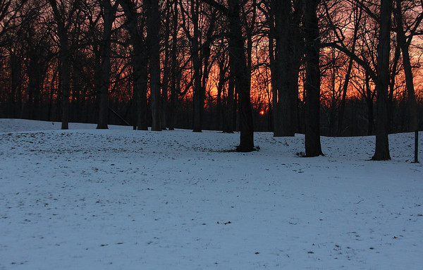 Circle Mound at Mounds State Park was pretty as the sun set on Friday evening.<br /> <br /> Photographer's Name: Jerry Byard<br /> Photographer's City and State: Anderson, Ind.