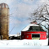 Snowy red barn.<br /> <br /> Photographer's Name: Linda  Riedel Ellis<br /> Photographer's City and State: Daleville, Ind.