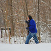 A cross country skier at Mounds State Park was enjoying the freshly fallen snow.<br /> <br /> Photographer's Name: Jerry Byard<br /> Photographer's City and State: Anderson, Ind.