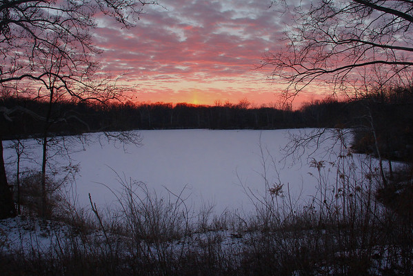 Sunset over the lake on Rangeline Road on Friday evening was impressive.<br /> <br /> Photographer's Name: Jerry Byard<br /> Photographer's City and State: Anderson, Ind.